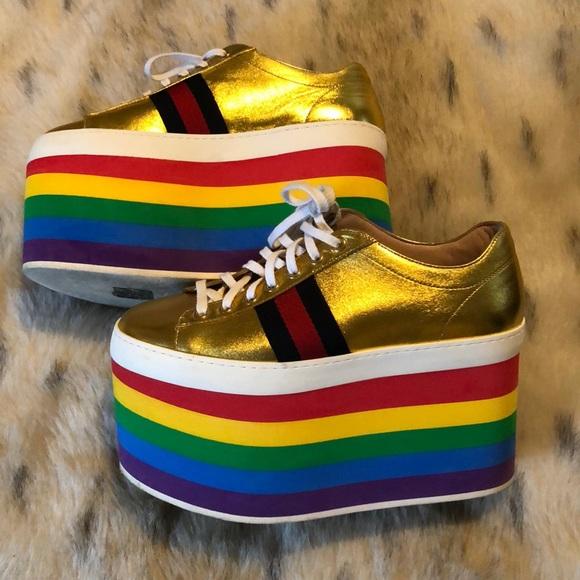 Gucci Shoes | Peggy Rainbow Platforms